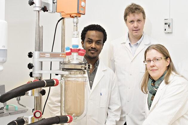 Sileshi Gizachew Wubshet, Nils Kristian Afseth og Ulrike Böcker forsker på restråstoff.