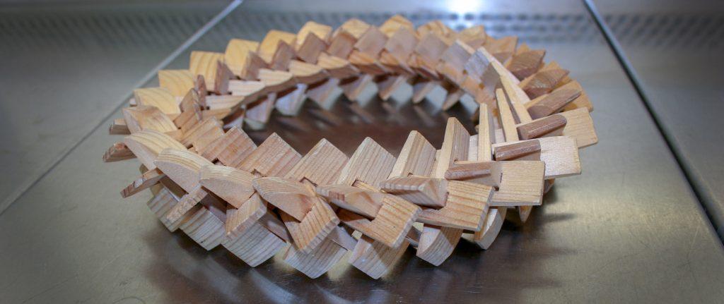 Typisk gjærkrans som brukes for å tilføre gjær i avkoket fra kornet.